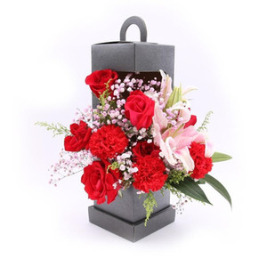 Lighthouse Lighthouse Portable Flower Box Fold Handmade Bouquet Package Boxs Wrap Hardboard Restore Ancient Ways 6 2hx C19