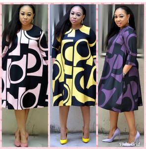 Super tamanho Novo estilo de roupa mulheres Africano Dashiki moda Imprimir vestido de pano de tamanho L XL XXL 3XL