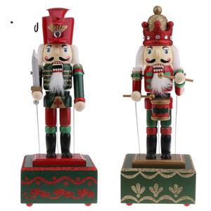 Noel Fındıkkıran Müzik Kutusu Oyuncak Yılbaşı Dekoru Süsleme -Soldier Davulcu Boyalı Yeni Tasarım 2 adet 32cm Ahşap El