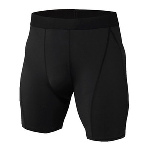Men's Exercise Gym Shorts Pro Quick-dry Sportswear Running Bodybuilding Skin Sport Training Fitness Compression Shorts with Bodybuil