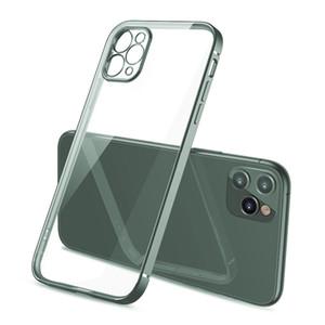 Тонкий Тонкий прямой край объектива камеры Защита Покрытие Гибкий прозрачный Clear ТПУ Мягкий чехол для iPhone 11 Pro Max 11 Pro