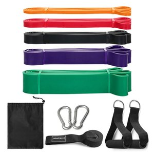 5 PCS Resistance Band Set Gym Strength Training Rubber Loops Bands Fitness Equipment Resistance Exercise Stretch Bands