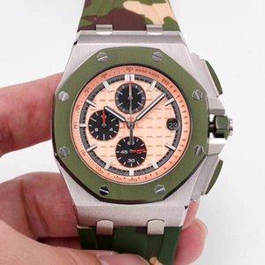 Luxus Herren VK Uhr Business Uhr 316L Refining Steel Super-langes Timing 6-stellige Zeiger Clearance-free Sport wasserdicht 50m