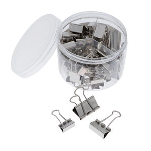 42 Pieces Binder Clips Paper Clamps Assorted 3 Sizes with Box
