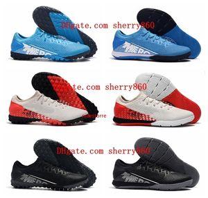2019 en kaliteli yeni varış futbol ayakkabıları Mercurial Buharlar 13 Pro IC TF kapalı futbol kramponlarını CR7 Neymar futbol ayakkabıları botas de futbol mens