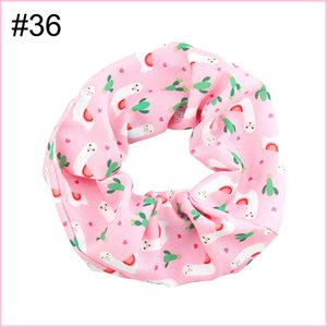 free shipping 12pcs NO1-No57 5.5'' big inspired hair scrunchies girl elastic hairbands Women Printed Scrunchie butterfly unicorn 4th of july