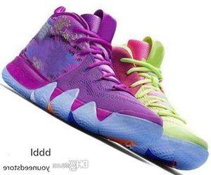Kyrie IV 4 4s Green Lucky Charms Mens 2019 All New Easter Halloween Designer Basketball Shoes Sports sneakers baskets Man Chausseures