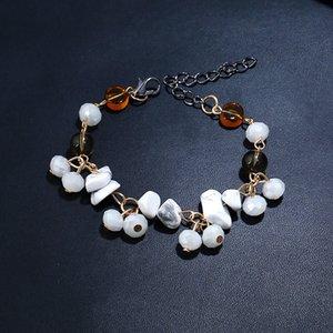 Plus récent Chakra charme unique Pierres naturelles Brins Wrap Bracelets main Boho Bracelet femme Lien Bracelet chaîne