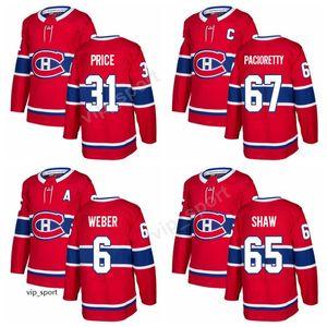 새로운 Max Pacioretty Jersey 몬트리올 캐나디언 65 Andrew Shaw 31 캐리 가격 아이스 하키 유니폼 6 Shea Weber 27 Alex Galchenyuk