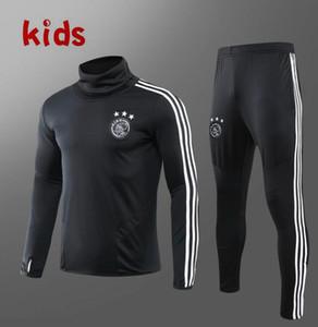 2019 Ajax MILIK Kids Football tracksuit set 19 20 Ajax Maillot de foot KLAASSEN Round Neck SOCCER kids Training suit kit