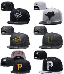 2019 nuova moda in Pirati P lettera Blue Jays cappelli berretti da baseball Bone Gorras Uomini Hip Hop Sport cappelli registrabili