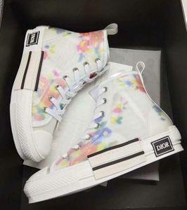 Eğik Erkek Marka B23 Ayakkabı Kadınlar Moda Sneakers 19SS Çiçekler Teknik Tuval Eğik B23 B24 Yüksek Düşük En Sneakers