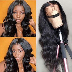 Body Wave Lace Front Wigs Pre Plucked Middle Part Brazilan Human Hair Wigs for Women 150 Density Body Wave 360 Lace Frontal Wigs