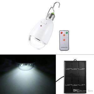 Lâmpada portátil alimentado E27 2.4W solar com controle remoto LED Controlador Lâmpada Solar AC90 ~ 260V / DC6V Iluminação exterior Solar Camping Luz