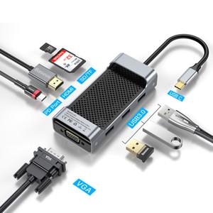 USB C HUB Typ C auf USB 3.0 HDMI VGA Multi USB 3.0 Netzteil Typ C HUB Für MackBook Pro Air USB-C Splitter