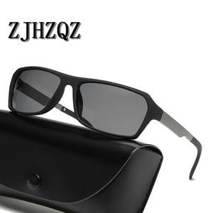 Zjhzqz retro praça óculos polarizados steampunk homens mulheres marca designer óculos vermelho azul amarelo máscaras de proteção uv400 gafa