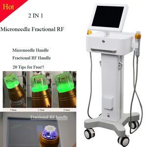 RF 및 EMS 아름다움 기계 피부 관리 장치와 마이크로 니들 링 기계 피부 회춘 기계 아름다움 장치