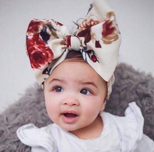8 Colore Accessori Per Capelli Del Bambino Infantile Bambini Big Bow tie fasce Fiore Headwraps Bambini Carino Principessa fasce per capelli