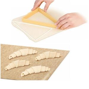 Hornear los pasteles herramientas de plástico Croissant molde del cortador del rodillo Croissant la máquina del fabricante de pan de masa línea de molde Hoja de Gadgets de cocina