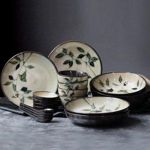 Di alta qualità in ceramica da tavola creativo fiore dipinto a mano piatto di riso ciotola di zuppa ciotola di noodle insalata ciotole di acqua tazze all'ingrosso