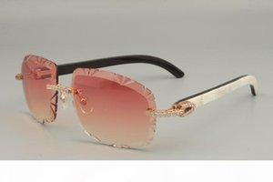 19 mais vendidos trompa de caça mistura óculos escuros chifre, 8300075-A, high-end de luxo diamante óculos de sol Tamanho: 58-18-140 óculos de sol