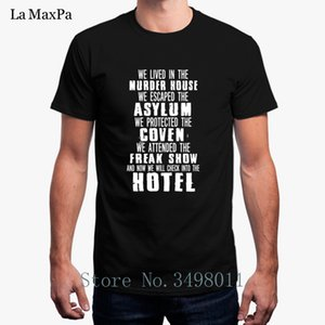 Free Shipping American Horror Story Hotel T-Shirt Men Large Solid Color T Shirt For Men Round Neck Fitness Tee Shirt Man