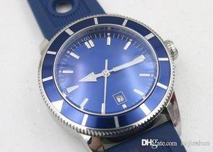 2020 Hot Seller Fashion Top Brei Men \&#039 ;S Automatic Chronometer Superocean Blue Dial Blue Rubber Band Watch