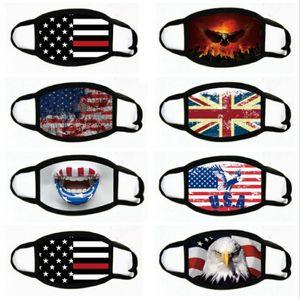 Trump America Face Mask Cartoon Print Reusable USA flag 3D leopard print Anti Dust Washable Outdoor Mouth Cover Designer Masks LJJA4108