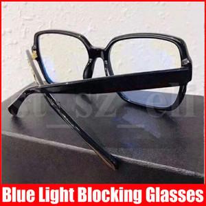 Berühmte Männer Brille mit Full Frame für Männer Frauen Plain Sonnenbrille Anti-Blau lichtundurchlässigen Glas mit Gift Box