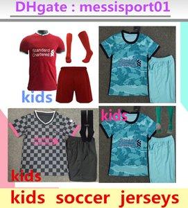 Enfants crianças kits 2019 de futebol 2020 jérseis Maillots de futebol liverpool camisas conjuntos de uniformes aceitar nome e número