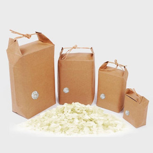 Rice paper bag Tea packaging cardboard paper bag weddings kraft paper bags Food Storage Standing Packing Bags