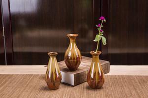 2pc Vaste / set glaçure dispositif mini fleur en céramique décoration art antique vase 2020 meubles glaçure four