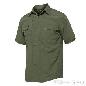 Camisa seca rápida dos homens à prova d 'água camisa de caminhada ao ar livre tático camisa de manga curta de combate masculino camisas de caça