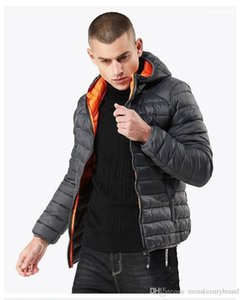 Loose Mens Down Fashion Warm Down Jackets With Zipper Coats Simple Mens Down Jackets Hooded Designer