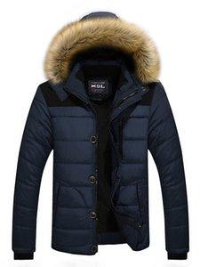 Men's Winter Coat Hood Fur Warm Jackets Basic Outwear Double Thick Overcoat Men Parkas