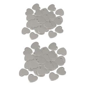 100pieces 12/14 millimetri Metal Flat Heart Love tondello Incisione Stampaggio fascini della modifica del pendente del braccialetto della collana dei pendenti per fare gioielli