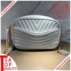 New Wave bolsos de la cámara bolsa de mensajero de CrossBody mujeres de los bolsos del bolso de hombro de la tarde bag1 cuero real bag1 cartera de la cadena con caja B021