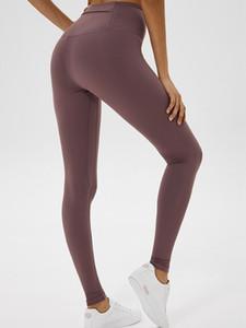 LU-06 Mulheres Yoga Align Pant Sexy Fria Pacer HR apertado 28 calças Ginásio Roupas elásticas Esportes Executando Vestuário Senhora Sportswear Calças
