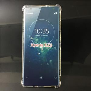 Anti-Klopfen Klare TPU-Hülle für Sony Xperia XZ3 XA2 XA3 Ultra Shockproof Transparente weiche rückseitige Abdeckung für X L2 L3 XA2 XA XA1 PLUS