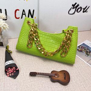Para mujer de cuero de lujo de los bolsos del bolso de la rana Bolsas axilares Bolsa de hombro Bolsos Bolsos, bolsos de piel de becerro de piel de cocodrilo 9colors