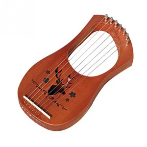 Gift 7-String Toy Musical Instrument Lightweight Professional Kids Entertainment Lyre Harp Compact Mahogany Wooden