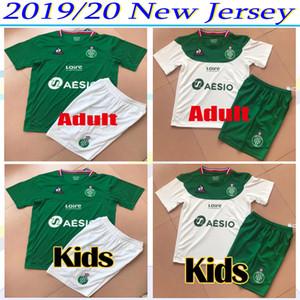 Комплект для взрослых и детей 2019 2020 AS Saints-Etienne soccer Jerseys KHAZRI mens Maillot 19 20 ASSE ST Etienne KHAZRI устанавливает Ахолу футбольные рубашки