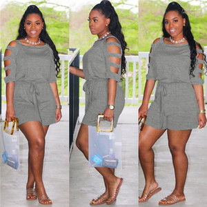 Estilo caliente ropa femenina nuevo caramelo de color Fajas para mujer del mono de Off-hombro sólido para mujer Body informal Ins
