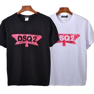 D2 estrenar camisetas casuales de DSQ tapas impresas masculina ocasional Mujer de verano de algodón de manga corta floja Tees Pareja Tops polo de la camiseta