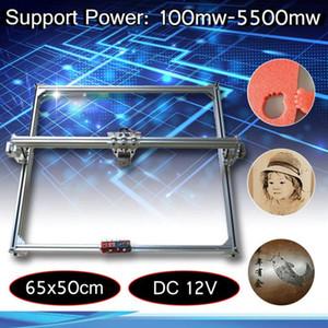 65x50 سنتيمتر 100 ميجا واط -5500 ميجا واط diy سطح البسيطة ليزر قطع / النقش حفارة آلة dc 12 فولت الخشب القاطع / طابعة / السلطة تعديل