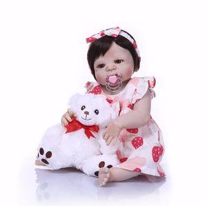 Bebe Reborn Full Silicone Body Girl Reborn Doll Alive Baby Bath Toys Realista Princesa Navidad Muñeca de moda Menina