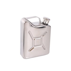 Portable Mini 5 oz Special Shaped Oil Barrel Shaped Stainless Steel Hip Flask Put Your Own Logo