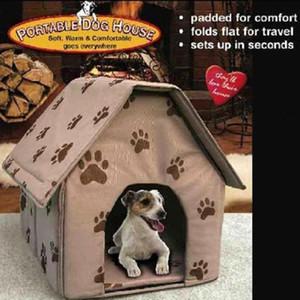 Bed cane pieghevole Dog House a ingombro ridotto dell'animale domestico della tenda del gatto della fossa di scolo coperto Portable Travel casa Kennel Puppy Mat