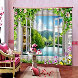 3D Curtains Impressão Sala Quarto Decoração Cortina Crianças Quarto Cortina Modern Moda Cortina paisagem