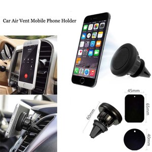 New 360degree Rotaing Metal Magnetic Car Air Vent Mobile Phone Holder Mount Cradle for iPhoneX 8P 7P 7 8 Samsung S8 wholesale